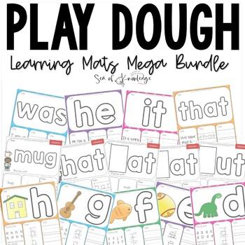 Alphabet, Numbers, Sight Words & Shapes Activity Dough Mat