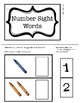 Number Sight Word Task Boxes
