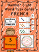 Number Sight Word Task Boxes BUNDLE - English & French