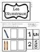 Number Sight Word Task Boxes - FRENCH