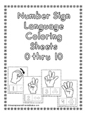 Number Sign Language Coloring Sheets (NO PREP)