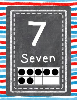 Number Signs 0-20 (Watercolor Theme)