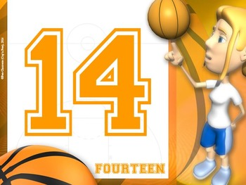 Number Signs: Basketball- Full Page Set (Numbers 1 - 32)