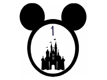 Number Signs Disney Mickey Head Outline