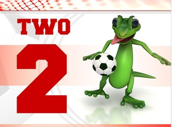 Number Signs: Soccer Lizard- Full Page Set (1 - 32)