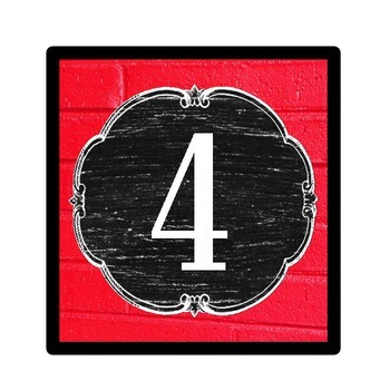 Number Signs - Vintage Schoolhouse Chalkboard Theme