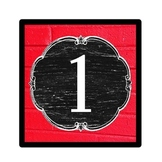 Number Signs - Vintage Schoolhouse Chalkboard Theme
