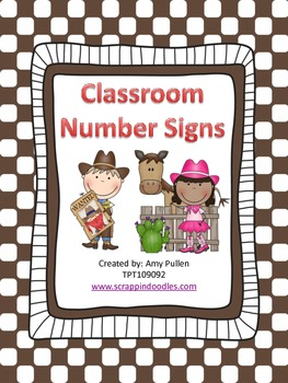 Number Signs for the Classroom, Classroom Decor