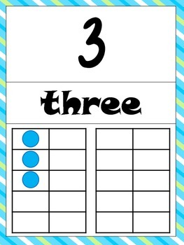 Number Signs with Ten Frames