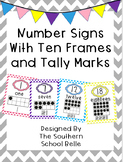 Number Signs with Ten Frames and Tally Marks