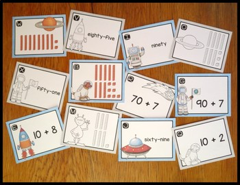 Number Skills for First Grade Bundle of Task Card Activities