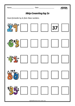 Number: Skip Counting Maths Workbook