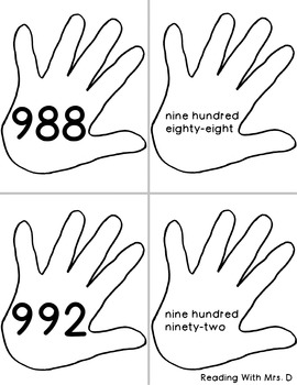 Number Slap Hands to 1000