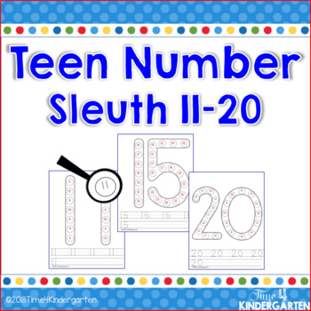 Number Sleuth Teen Numbers 11-20
