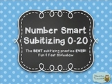 Number Smart Subitizing 0-20: The BEST Subitizing Practice EVER! PDF Version