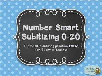 Number Smart Subitizing 0-20: The BEST Subitizing Practice EVER! SmartNotebook