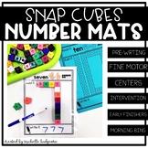 Number Snap Cube Building Mats Activities Preschool, PreK,
