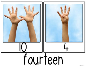 Number {Snapshots} Math Posters {Photos} for Kindergarten & First Grade