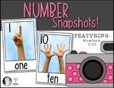Number {Snapshots} Mini Math Posters {Photos} for Kinderga