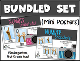 Number Snapshots Posters for the Classroom Math Kindergarten & First Grade