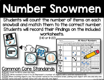 Number Snowman - Number Identification