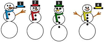 Number Snowmen Match