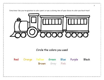 Number Express and Transportation Activities for Pre K and Kindergarten