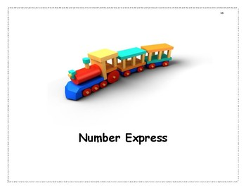 Number Express and Transportation Activities for Pre K and
