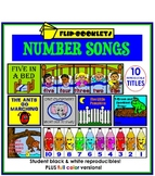 Number Songs Flip Booklets