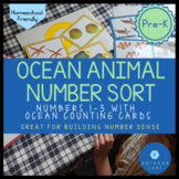 Number Sort Activity for Numbers 1-3 Ocean Themed Number C