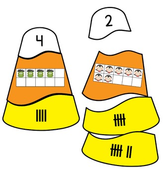 Number Sort Candy Corn Theme