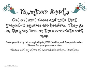 Number Sort FREEBIE!!