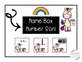 Number Sort/Name Boxes