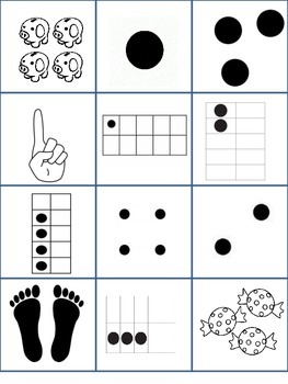Number Sort - Number Recognition & Counting #s 1-9