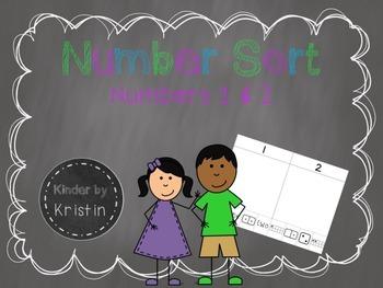 Number Sort (Numbers 1 & 2) - Kinder by Kristin