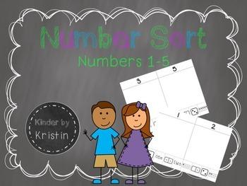 Number Sort (Numbers 1-5) - Kinder by Kristin