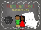 Number Sort (Numbers 5-10) - Kinder by Kristin