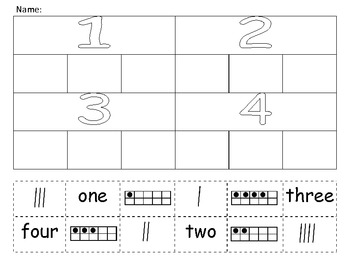 Number Sort - Tally, Ten Frame, Number Words