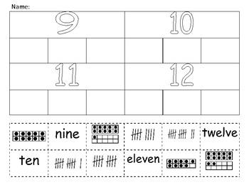 Number Sort - Tally, Ten Frame, Number Words