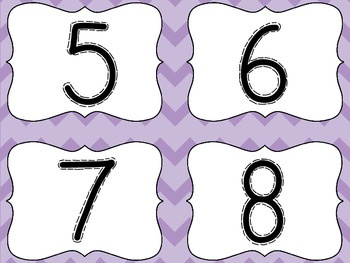 Number Sort and More!-Cheveron Style Centers, Flashcards, Posters, and MORE