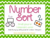 Number Sort for 1 to 5 with Number Bonds and Tens Frames