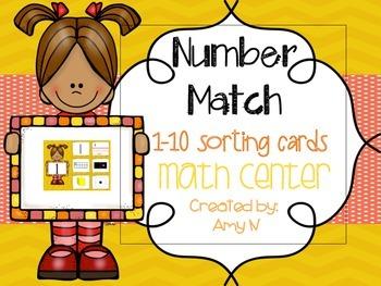 Number Sense Sort / Go Fish / Memory Game