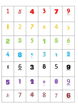 Number Sort with Different Fonts