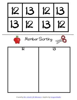 Number Sorting 0-15