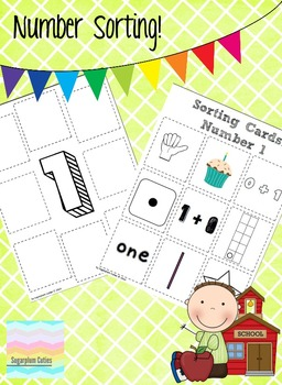 Number Sorting Math Center 1-10: Tally, Simple addition, Tens, Sight Words...