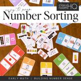 Number Sorting Mats 1-10 - Number Representations