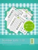 Number Sorts: 1-10 (set 1 of 2)
