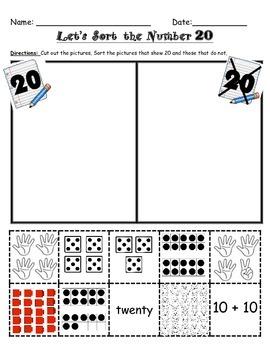 Number Sorts 1-20!
