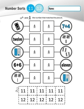 Number Sorts: 11-20 (set 2 of 2)