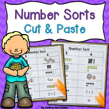 Number Sorts - Cut & Paste